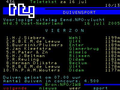 VIERZON TELETEKST2005