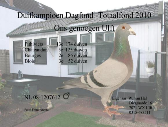 Foto's duifkampioenen 2010 – P V  Ons Genoegen Ulft